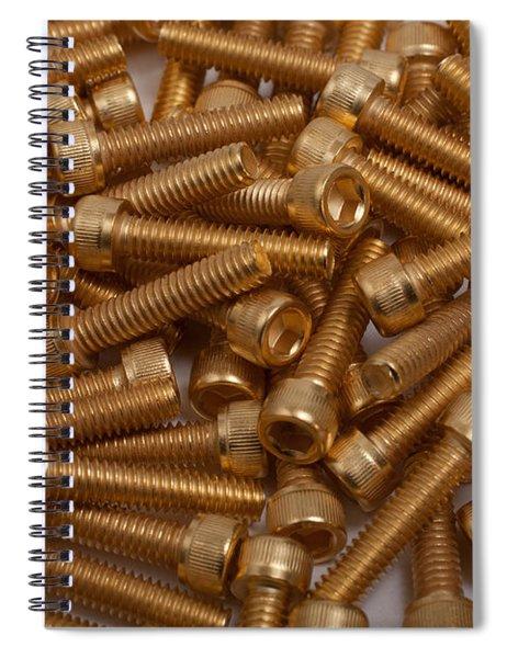Gold Plated Screws Spiral Notebook