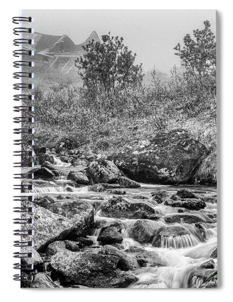 Gold Rush Mining Shack In The Alaskan Mountains Spiral Notebook