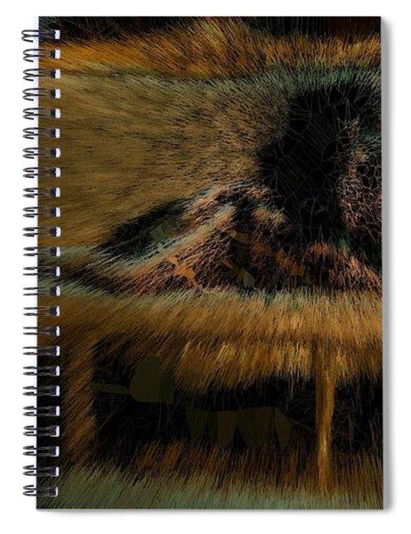 Gold Sofa Feline Spiral Notebook