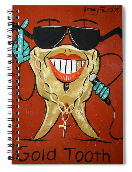 Gold Tooth Spiral Notebook