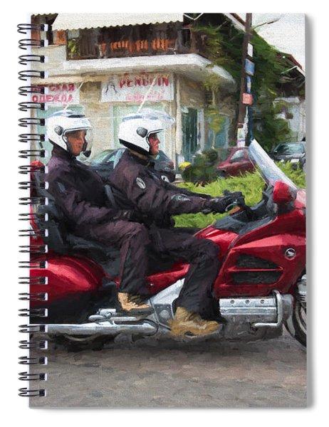Gold Wing Motorbike 3 Spiral Notebook