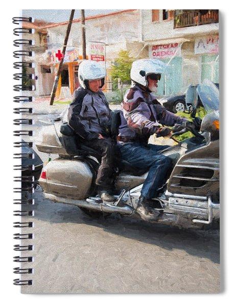 Gold Wing Motorbike 5 Spiral Notebook