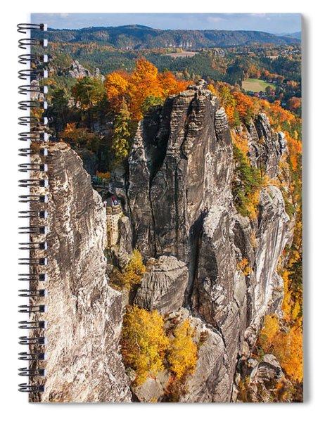 Golden Autumn In Saxon Switzerland Spiral Notebook