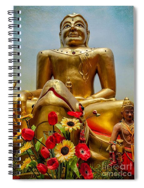 Flowers For Buddha  Spiral Notebook