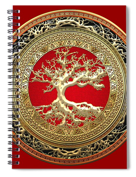 Golden Celtic Tree Of Life  Spiral Notebook