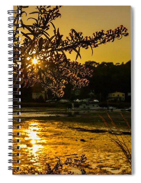 Golden Centerport Spiral Notebook