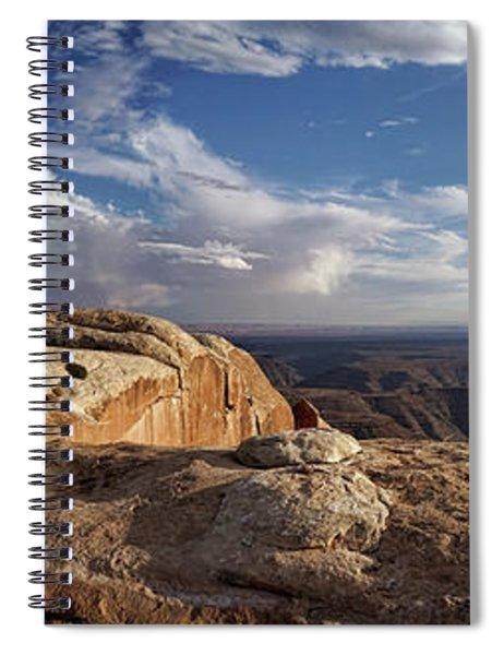 Golden Cliff Hanger Spiral Notebook