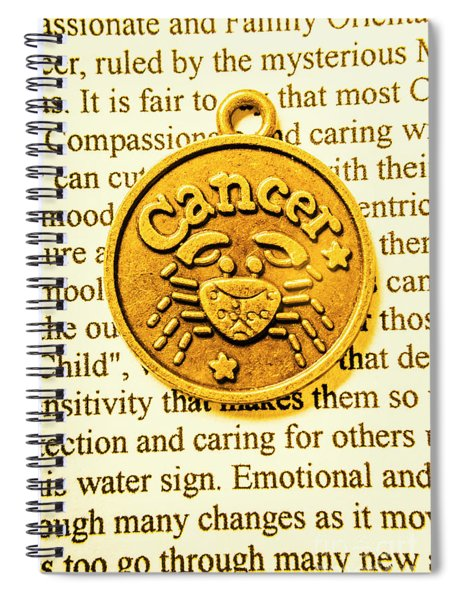 Golden Crab Cancer Spiral Notebook