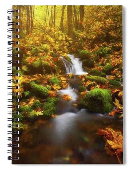 Golden Creek Cascade Spiral Notebook