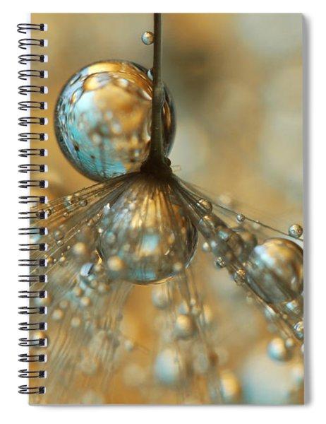 Golden Dandy Shower Spiral Notebook
