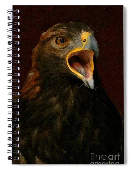 Golden Eagle Calling - Portrait Spiral Notebook