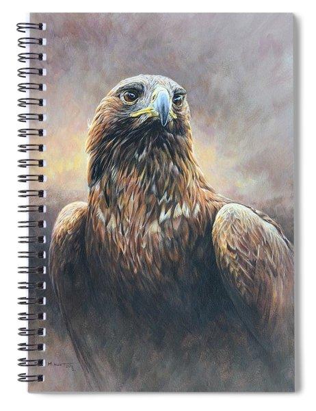 Golden Eagle Portrait Spiral Notebook