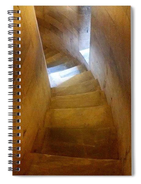 Golden Echo Of Blue Spiral Notebook