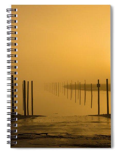 Golden Fog On The Nissequogue Spiral Notebook