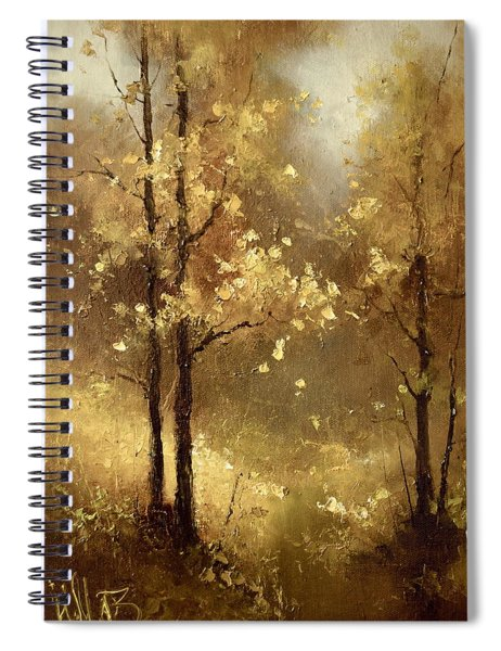 Golden Forest Spiral Notebook