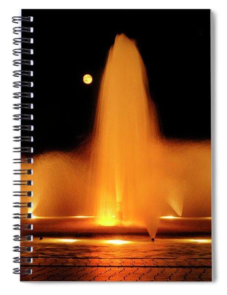 Golden Fountain Spiral Notebook