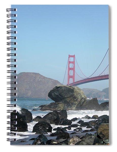 Golden Gate Beach Spiral Notebook