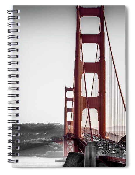 Golden Gate Black And Red Spiral Notebook