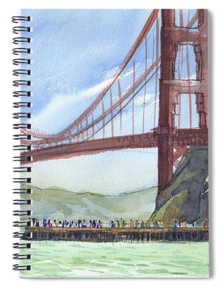 Golden Gate Bridge From Fort Baker, Ca Spiral Notebook