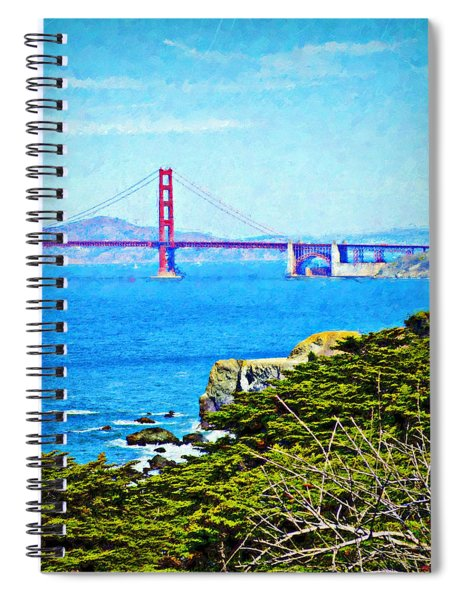 Golden Gate Bridge From The Coastal Trail Spiral Notebook