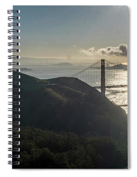 Golden Gate Bridge From The Road Up The Mountain Spiral Notebook