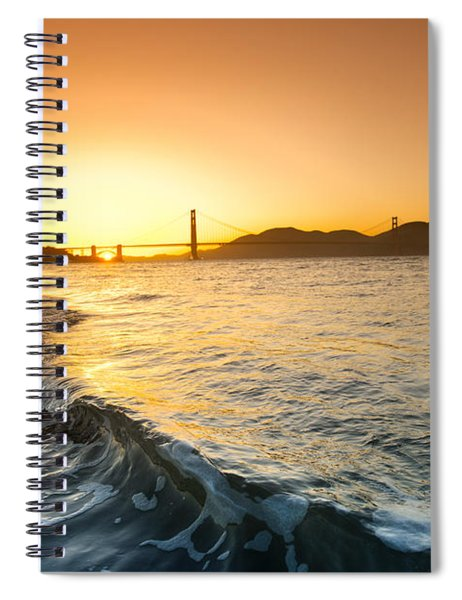Golden Gate Curl Spiral Notebook