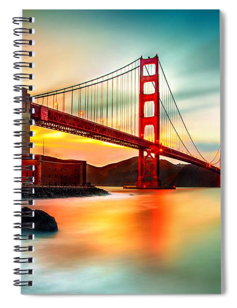 Golden Gateway Spiral Notebook