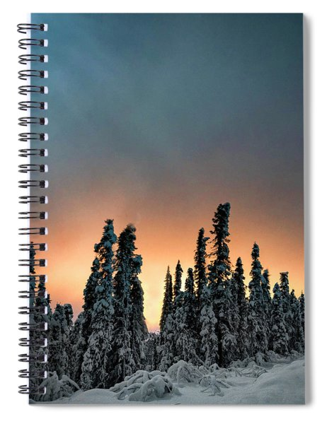 Golden Glow And Moonlight Spiral Notebook