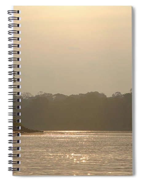 Golden Haze Covering The Amazon River Spiral Notebook