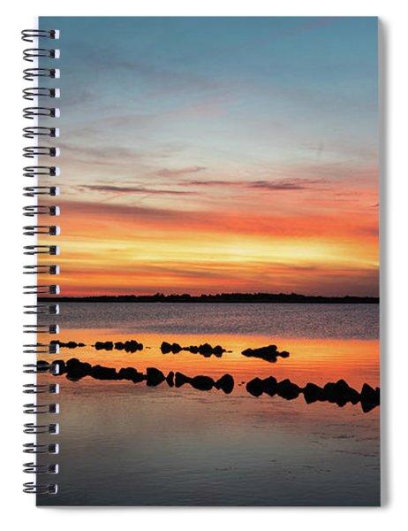 Golden Hour At Back Bay Spiral Notebook