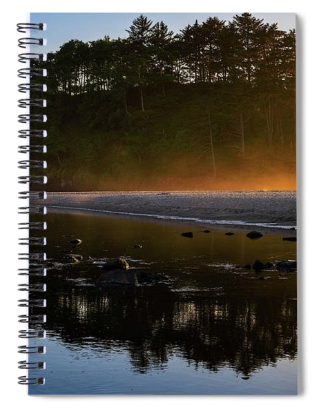 Golden Hour Haze At Proposal Rock Spiral Notebook