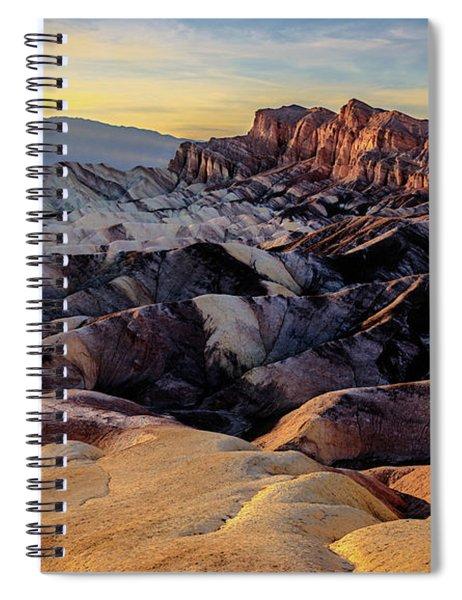 Golden Hour Light On Zabriskie Point Spiral Notebook