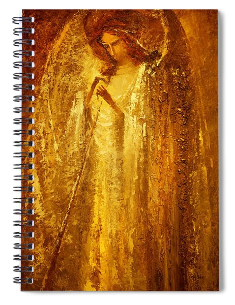 Golden Light Of Angel Spiral Notebook