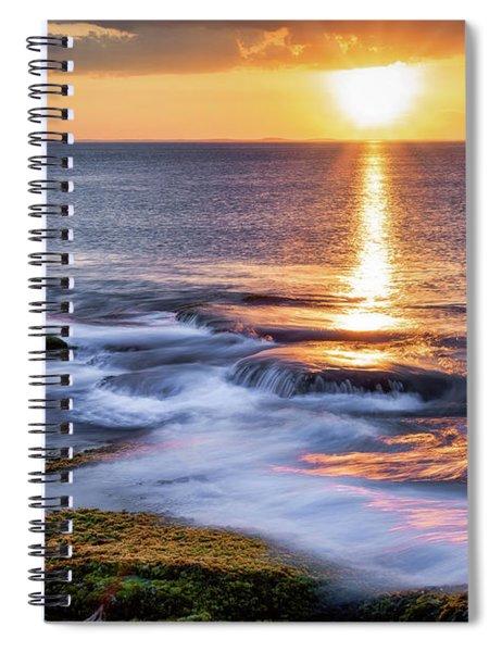 Golden Light Sunset, Rockport  Ma. Spiral Notebook