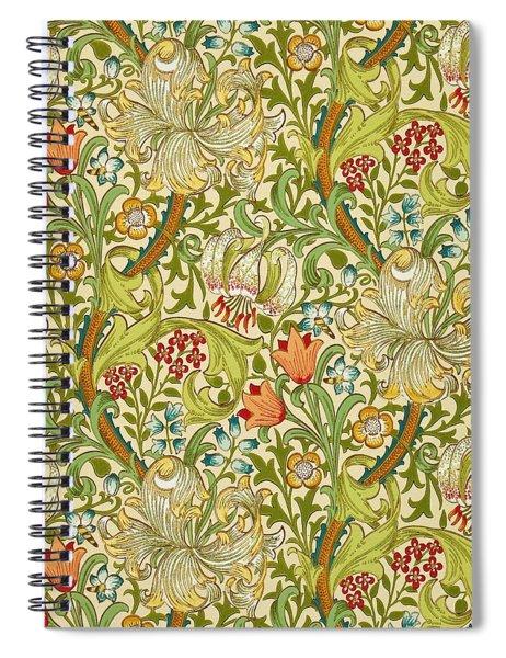 Golden Lily Spiral Notebook
