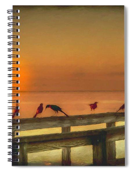 Golden Moment Spiral Notebook