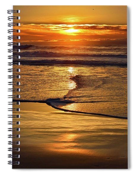 Golden Pacific Sunset Spiral Notebook