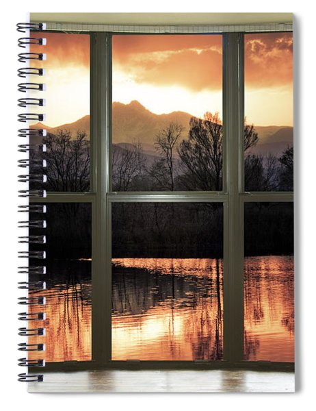 Golden Ponds Bay Window View Spiral Notebook