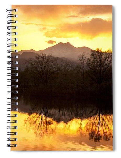 Golden Ponds Longmont Colorado Spiral Notebook