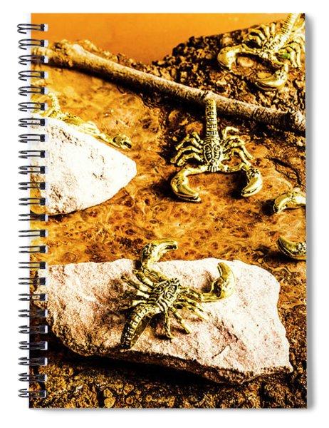 Golden Scorpion Amulets Spiral Notebook