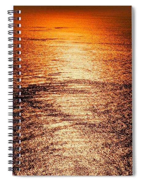 Golden Sea In Alanya Spiral Notebook