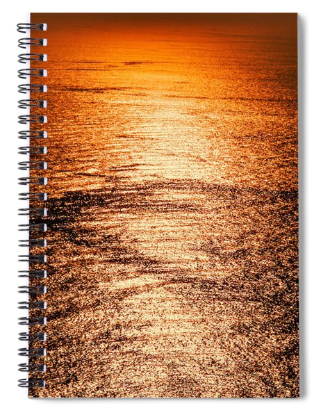 Golden Sea In Alanya Spiral Notebook