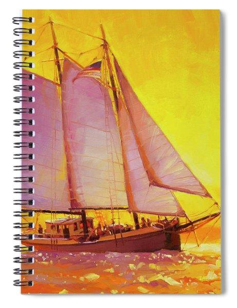 Golden Sea Spiral Notebook