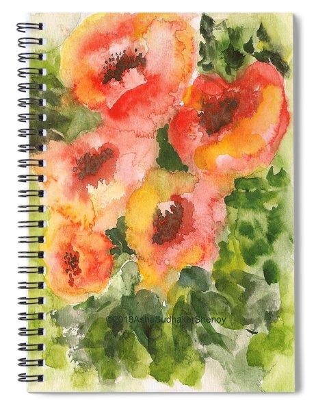 Golden Spring Blossoms Spiral Notebook