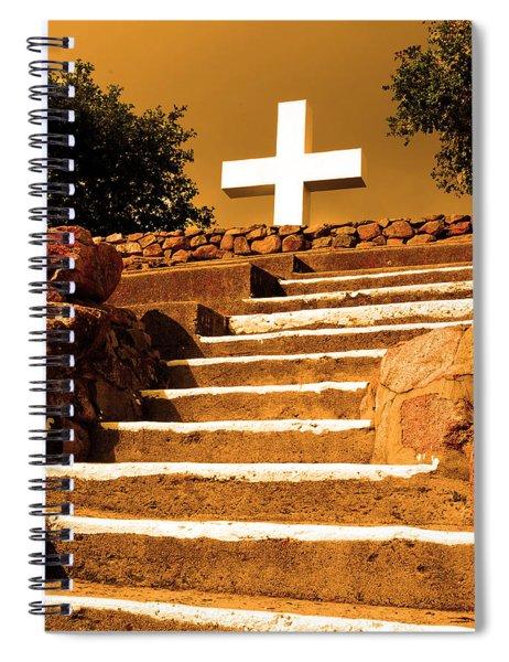 Golden Stairway Spiral Notebook
