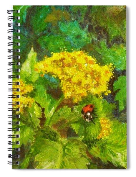 Golden Summer Blooms Spiral Notebook