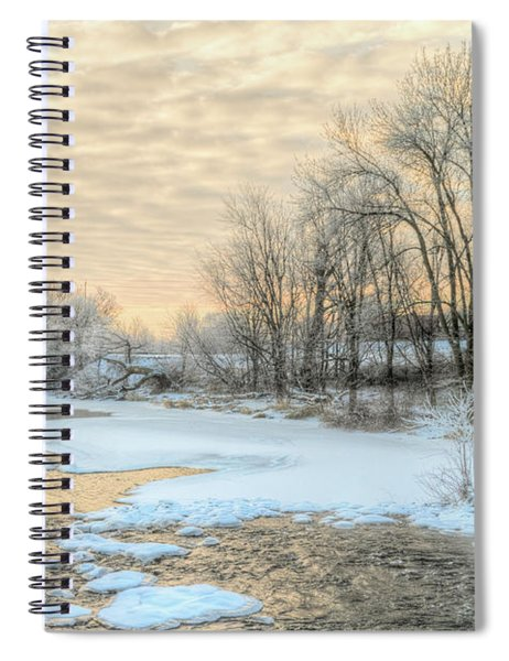 Spiral Notebook featuring the photograph Golden Sunrise Signed by Garvin Hunter