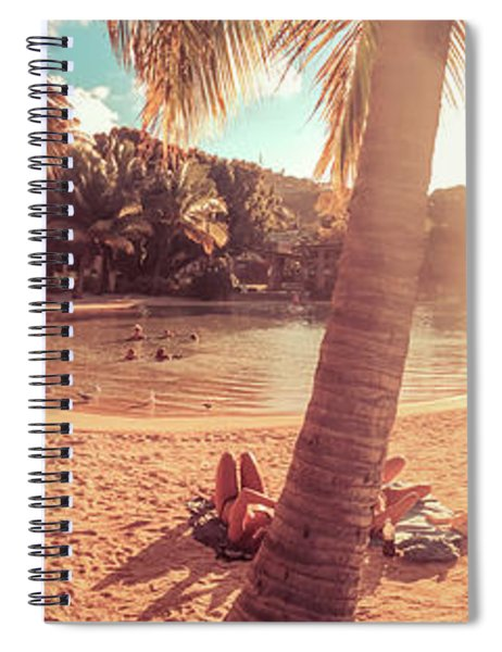 Golden Sunsets Of Airlie Beach Spiral Notebook