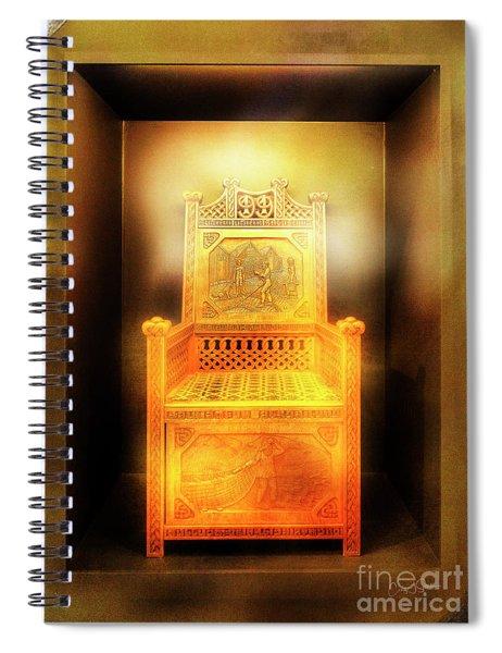 Golden Throne Spiral Notebook