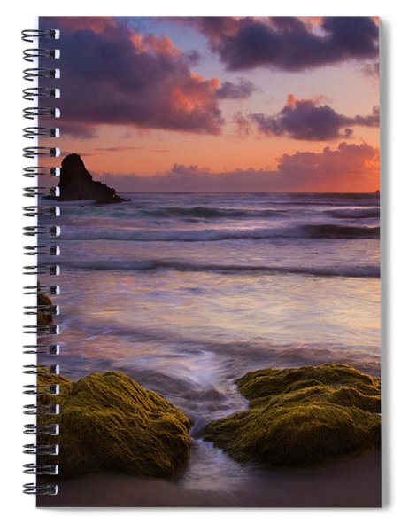 Golden Tides Spiral Notebook